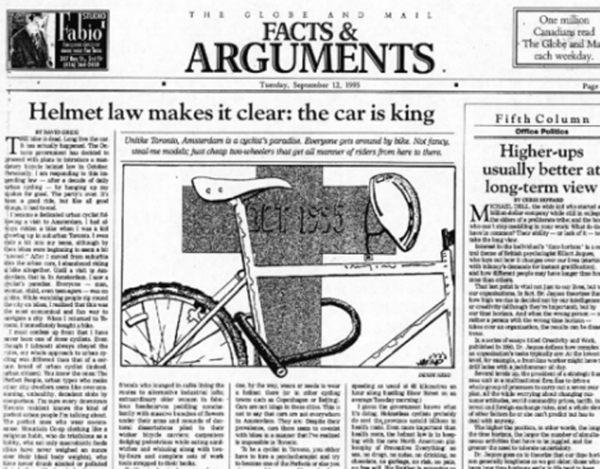"""Globe & Mail"" Illustration 1995 by Draake Herd"