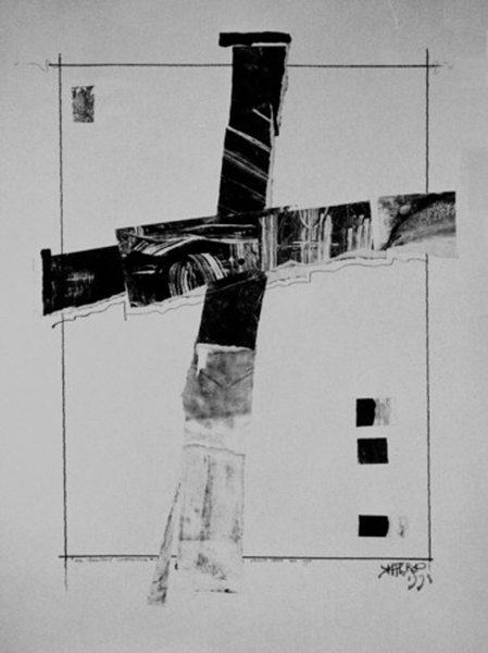 """Oil Monoprint"" 1998 by Derek Herd"