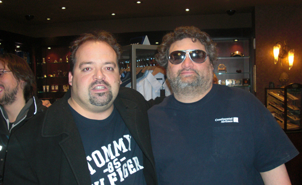 Derek Herd & Artie Lange in New York, USA.