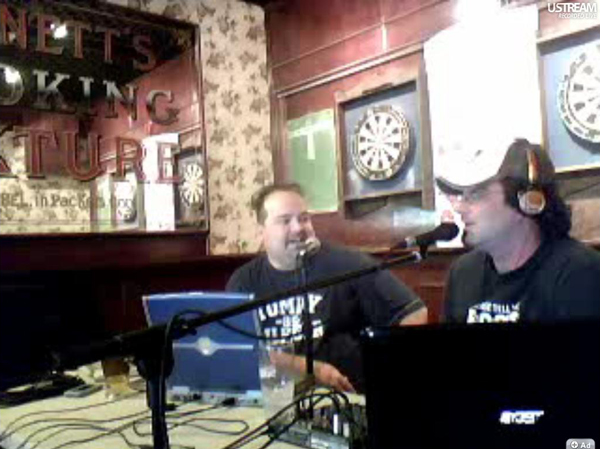 "Derek Herd guest hosting on the ""Those3Guys"" radio show with Julian Velocci."