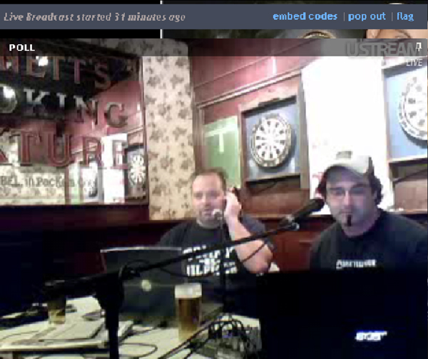 """Derek Herd guest hosting on the """"Those3Guys"""" radio show with Julian Velocci."""