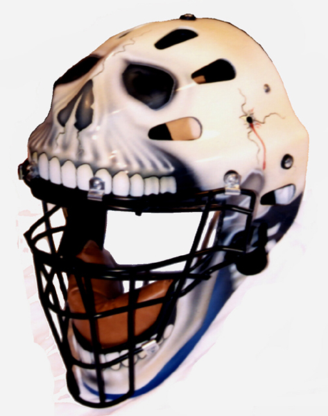 """Catcher Mask 2"" Side View 2000 by Draake Herd"