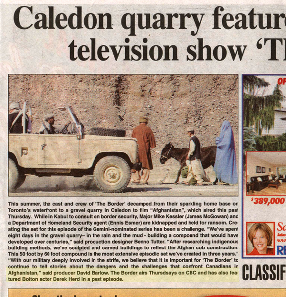 Draake mentioned in The Caledon News 2009
