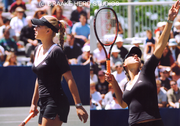 'ANNA KOURNIKOVA 01' and 'ANNA KOURNIKOVA 05' by Draake Herd 2004. I got permission to shoot Anna that day and she was absolutely beautiful.