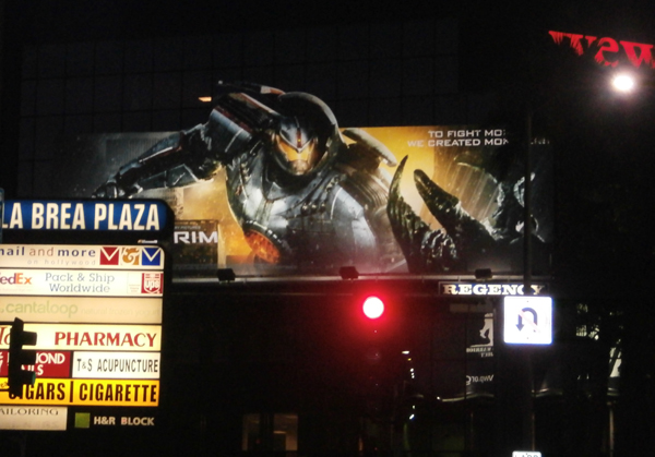 I was happy to see this billboard staring down at me driving on Hollywood Blvd and La Brea opening week.